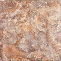 FLOORS 2000�6-Pack Golfo Red Glazed Porcelain Floor Tile (Common: 20-in x 20-in; Actual: 19.688-in x 19.688-in)