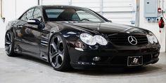 Black Mercedes SL63 AMG on PUR TEN
