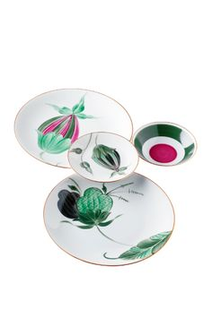 Limoges porcelain place settings by Marie Daâge, starting at $85/piece; gumps.com