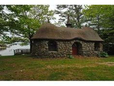 It use to be a pump house for Kona Mansion in Moultonborough--now it is the coolest (very) little house on Lake Winnipesaukee in New Hampshire