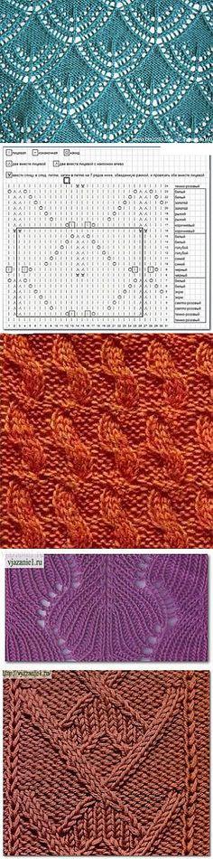 Узоры спицами. | вязание-узоры | Постила