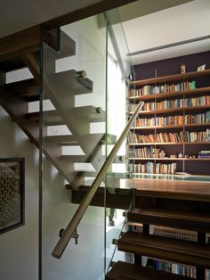 Galleries, libraries and reading nooks turn these go-between stairway spaces into invitations to relax