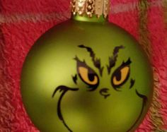The Grinch Holiday Art Maybe by PaintingsbyChelsi on Etsy