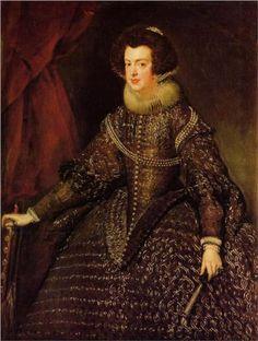 Queen Isabella of Spain wife of Philip IV  - Diego Velazquez