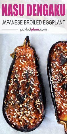 Nasu, Vegan Recipes, Cooking Recipes, Vegan Eggplant Recipes, Cooking Tips, Good Food, Yummy Food, Easy Asian Recipes, Easy Japanese Recipes