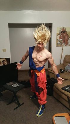 This Goku Cosplay's Power Level Goes Way Beyond 9000! [Pic] - Visit now for 3D Dragon Ball Z compression shirts now on sale! #dragonball #dbz #dragonballsuper