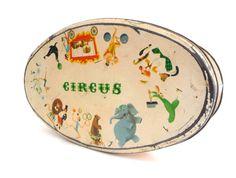 Vintage Biscuits Tin Box  Retro Advertising Metal by madlyvintage, $28.00