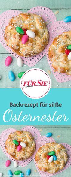 Der Osterkranz gehört auf den österlichen Kaffeetisch wie bunte Eier und Schokohase. Diese Variante ist wegen ihrer Größe perfekt zum Verschenken oder als Überraschung auf dem Frühstücksteller geeignet.