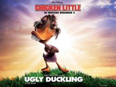 Chicken Little ~ Ugly Duckling wallpaper Pixar Animated Movies, Cartoon Movies, Disney Movies, Disney Pixar, Chicken Little, Disney Posters, Movie Posters, All Lyrics, In Theaters Now