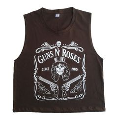 Guns N Roses Since 1985  Women Crop Top Singlet by gnetshopdesign