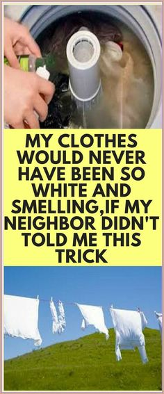 My Clothes Would Never Have Been So White And Smelling, If My Neighbor Didn�t Told me This Trick Cleaning Solutions, Cleaning Hacks, Cleaning Supplies, Washing White Clothes, Thing 1, Laundry Hacks, Laundry Rooms, Natural Medicine, Herbal Medicine