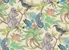 Savuti Behang Ardmore - Cole and Son   Het Savuti behang Ardmore Cole and Son is vernoemd naar een van Afrika's meest geleifde nationale parken. Waar exotische vogels, baviane...