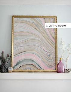 Marbleizing artwork