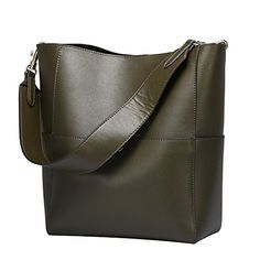 New Trending Make Up Bags: S-ZONE Womens Fashion Vintage Leather Tote Shoulder Bag Handbag Purse(Olive-green). S-ZONE Women's Fashion Vintage Leather Tote Shoulder Bag Handbag Purse(Olive-green)   Special Offer: $58.99      199 Reviews Dimension(L*W*H):9.8″X6.2″X12.2″/25*15.5*31CM (Fit up to 11″ laptops), Handle height:12.2″/31CM(long enough to put on shoulder),...