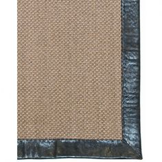 Classic Home Leather Border Pampas Coffee Contemporary Rug - 3007810