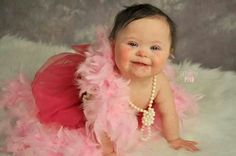 Blushing Nora ♥ Down syndrome awareness. The cutest baby ever!!