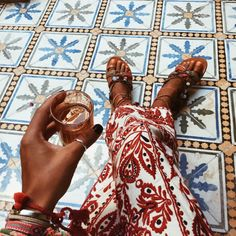 "bakchic: ""Early Saturday Ataï …#bakchicontour #tiles #morning (à Morocco, North Africa) """