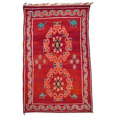 Stunning Vintage North African Rug | From a unique collection of antique and modern moroccan and north african rugs at http://www.1stdibs.com/furniture/rugs-carpets/moroccan-rugs/