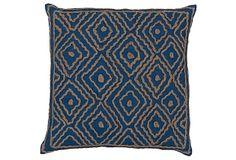 Maze 18x18 Pillow, Mediterranean on OneKingsLane.com