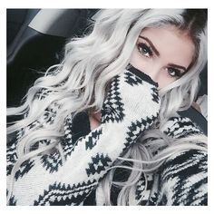 10 Awesome Silver Hair Colors Ideas ❤ liked on Polyvore featuring accessories and hair accessories