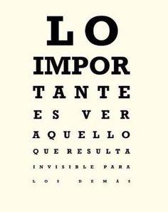 Lo importante…