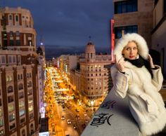 Wintercoat on a rooftop in Madrid - Wintermantel und Winterlook auf einer Dachterasse in Madrid - #madrid #spain #rooftop