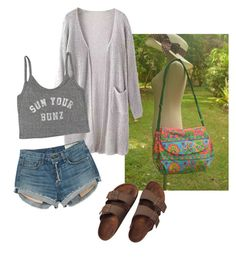 """""""friday look"""" by owlnightmare ❤ liked on Polyvore featuring Billabong, rag & bone and Birkenstock"""