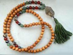 Energizing Mala with Smokey Quartz