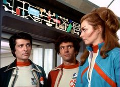 Tony Anholt, John Hug and Catherine Schell in Space:1999