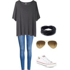 A fashion look from September 2014 featuring R13 t-shirts, H&M jeans and Converse sneakers. Browse and shop related looks.