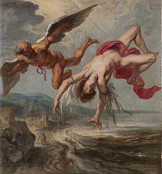 Peter Paul Rubens, Fall of Icarus This image shows Icarus as he's falling… Peter Paul Rubens, Icarus Wings, Daedalus And Icarus, Icarus Fell, Icarus Myth, Mythology Paintings, Creation Art, Renaissance Art, Ancient Civilizations