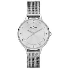 Buy Skagen SKW2149 Women's Anita Stainless Steel Mesh Bracelet Strap Watch, Silver Online at johnlewis.com jl 125