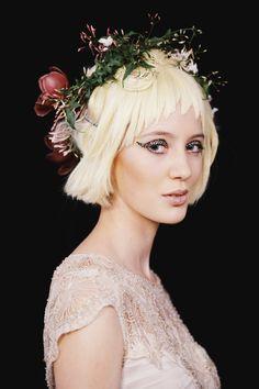Gwendolynne - Wedding Dress - MSFW - Hair by Kevin Murphy, Make up by Mecca Cosmetica, Fresh floral wreath by Flower Flower