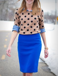 .I have this sweater!  What a great idea. I love to pair denim indigo with nuetrally browns and animal prints.