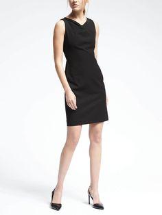 Lightweight Wool Sleeveless Inverted Pleat Dress - Banana Republic 17.03