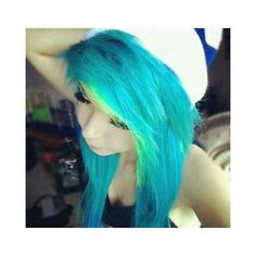 scene hair ❤ liked on Polyvore featuring hair, blue, people, pictures and scene hair