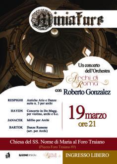 Roberto Gonzalez Monjas e Archi di Roma present Miniature