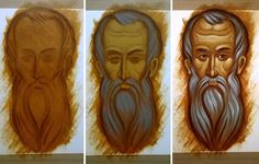 workshop - xamist Religious Images, Religious Icons, Religious Art, Byzantine Icons, Byzantine Art, Writing Icon, Paint Icon, Jesus Painting, Face Icon