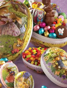 Papier Mache Eggs filled with Bissinger's confections!