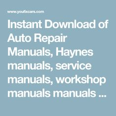 2004 2005 mitsubishi space star workshop service repair manual instant download of auto repair manuals haynes manuals service manuals workshop manuals manuals fandeluxe Images