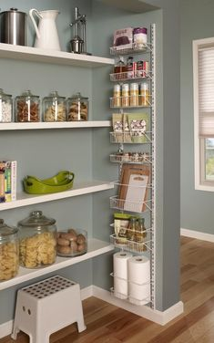 8 Tier Adjustable Cabinet Door Organizer is part of cabinet Organization Shelves - Keep snacks, spices, or cleaning supplies neatly organized with this adjustable Adjustable Cabinet Door Organizer, featuring a wallmounted or overthedoor design in white Kitchen Pantry Design, Kitchen Organization Pantry, Diy Kitchen Storage, Home Office Organization, Kitchen Decor, Bathroom Storage, Small Bathroom, Medicine Organization, Spice Organization
