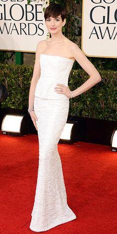 Anne Hathaway - Golden Globe Awards 2013, Red Carpet