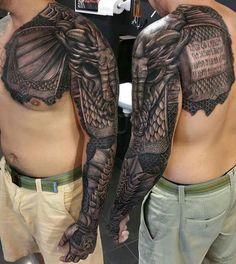 Awesome elephant arm tattoo