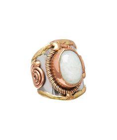 Aventurine & Tri-Tone Ring #zulily #zulilyfinds