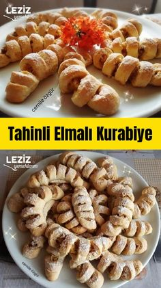Tahinli Elmalı Kurabiye Turkish Tea, Tea Time Snacks, Bakery, Ice Cream, Foods, Meals, Breakfast, Desserts, Recipes