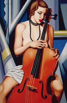 Woman with Cello - Catherine Abel