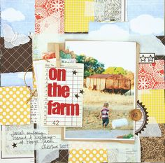 Soo cute-would love to do a page similar to this off cole on the farm