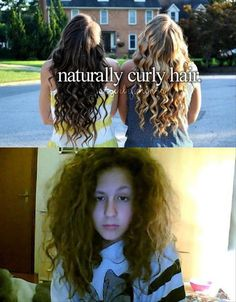 """""""How come it looks different from like…TV curly hair?"""" How to get your naturally curly hair to look like that: straighten it and curl it with a curling iron. 26 Things People With Curly Hair Are Tired Of Hearing Curly Hair Styles, Natural Hair Styles, Curly Hair Problems, My Hairstyle, Natural Curls, Curly Girl, Girl Hair, Girly Things, Just In Case"""