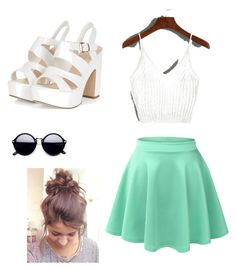 """💙"" by genovefadim on Polyvore featuring LE3NO"