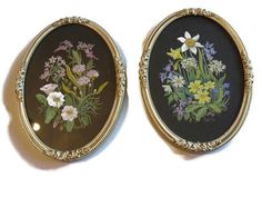Pair of antique hand painted miniatures by WhiteHartAntiques